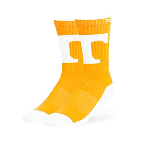 OTS NCAA Tennessee Volunteers Anthem Sport Socks, Large, Vibrant Orange -