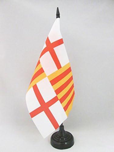 AZ FLAG Bandera de Mesa de la Ciudad DE Barcelona 21x14cm - BANDERINA de DESPACHO BARCELONESA 14 x 21 cm: Amazon.es: Hogar