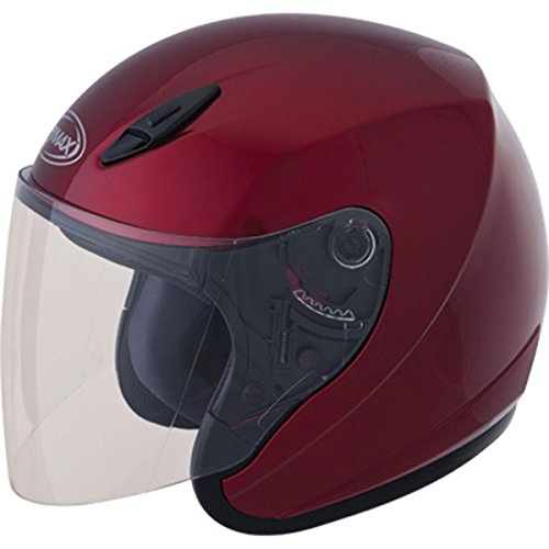 GMAX unisex-adult open-face-helmet-style Helmet (Gm17) (Candy Red, XXX-Large)
