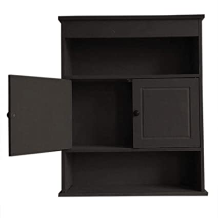 Bathroom Cabinet Home Kitchen Wall Mounted Storage Medicine Cabinet With Doors And Shelves Over The Toilet Espresso Brown