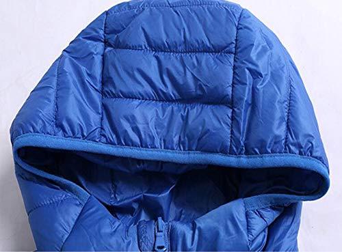 Giacca Jbhurf Ampia S Casual E Uomo Spessa colore Colore Vestibilità Con Da Invernale Blu Rosso Dimensioni Cappuccio rrU0xgdw