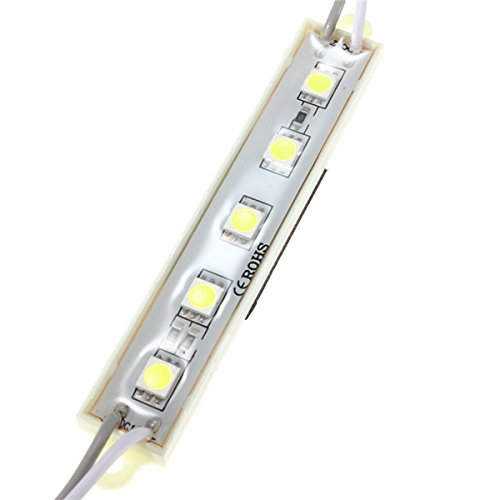 5 Colors 5 SMD 5050 LED Module Light Waterproof Strip Light Lamp 12V - (Color: Blue) DAVITU