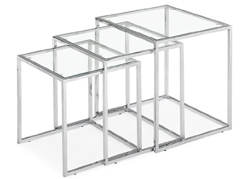 Pasos Nesting Table (Zuo Modern Pasos Nesting Table Clear Glass,)