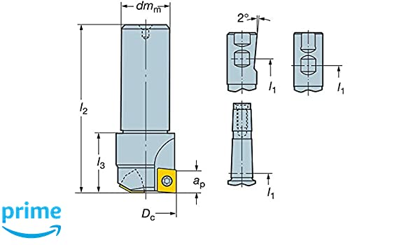1 Cutting Diameter 1.57 Length Sandvik Coromant R216.2-325 U-MAX Drilling Endmill 2 Number of Flutes