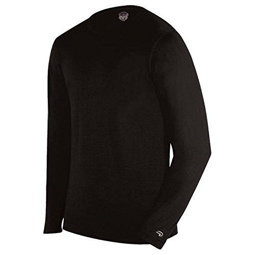 Duofold Men's Mid Weight Single-Layer Thermal Tagless Crew, Black, - Woodbury Mn Shops In