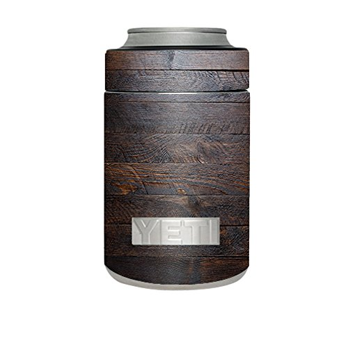 Skin Decal Vinyl Wrap for Yeti Rambler Colster Cup / Wooden wall pattern