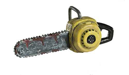 Bloody Chainsaw Ornament - Scary Prop and Decoration for Halloween, Christmas, Parties and Events - By HorrorNaments ()