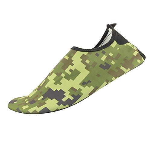 Himal Wasserschuhe Für Frauen Männer Wasser Socken Wasserdichte Aqua Socken Schwimmen Schuhe Für Beach Volleyball Sport Übung Schuhe Aktive Schuhe Erwachsene H3 Militärgrün
