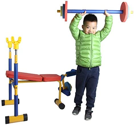 Adjustable Toy Weight Bench Set Workout Bench