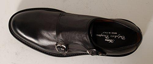 Antica Calzoleria Campana Schuhe | Mod. 205 | Doppel-Monk | Gummisohle | dunkelbraun oder schwarz Schwarz