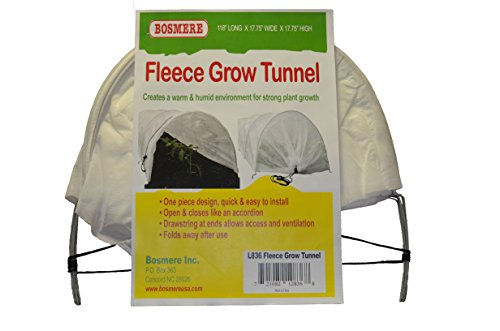 Bosmere L836 Fleece Tunnel Plant Row Cover, 10-Feet, Green