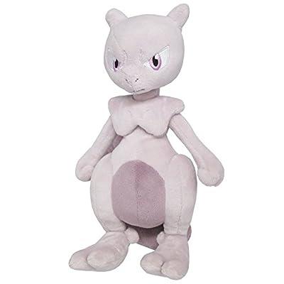 """Sanei Pokemon All Star Collection Mewtwo Stuffed Plush Toy, 10"""": Toys & Games"""