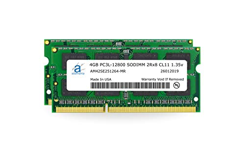 (Adamanta 8GB (2x4GB) Laptop Memory Upgrade DDR3/DDR3L 1600Mhz PC3L-12800 SODIMM 2Rx8 CL11 1.35v Notebook RAM DRAM)