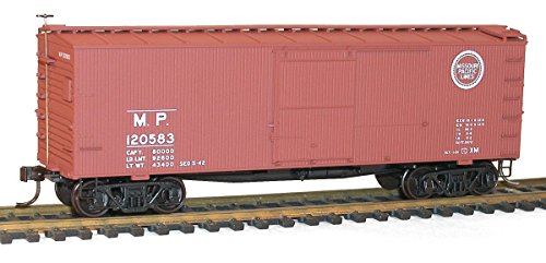 36' Double-Sheathed Wood Boxcar w/Steel Roof, Ends, Fishbelly Underframe - K -- Missouri Pacific #120583 (Boxcar Red, Buzz Saw Logo) ()