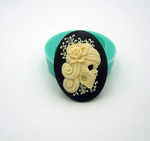 Findings Stop Brand Silicone Mold Punk Skeleton Cameo Flexible for Crafts, Jewelry, Resin, Scrapbooking, Polymer Clay -