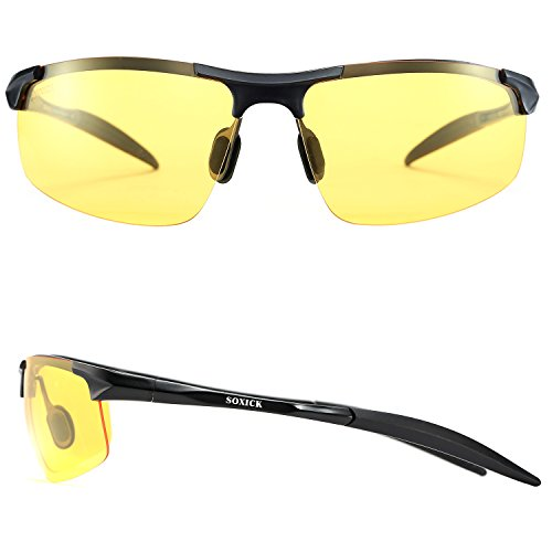 Soxick Hd Polarized Night Driving Glasses Anti Glare Safety Glasses  Black1