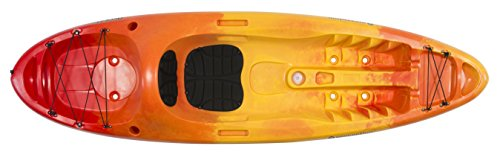 Perception Kayak Access Sunset Kayak, Red/Yellow, Size 9.5