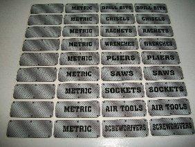 Diamond Plate Tool Box Decals, 36-Pcs Kit, Find Your Tools Quick (Diamond Plate Tool Boxes)