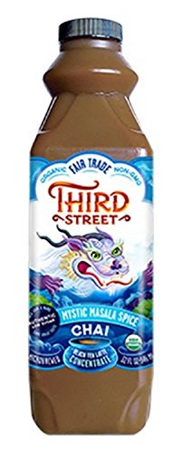 Third Street Organic Chai Tea Latte Concentrate, Mystic Masala Spice 32 ounces, Pack of 6