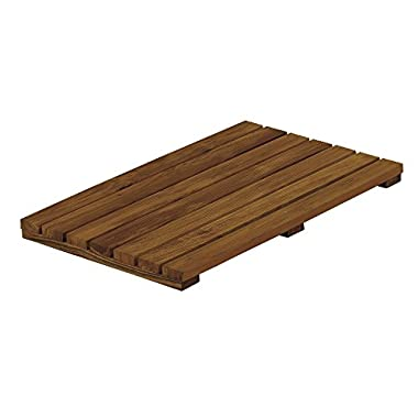 Conair Home Solid Teak Bathroom Mat (Colors May Vary)