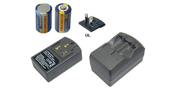 Amazon.com: Cargador de batería para Fujifilm CR2, DLCR2 ...