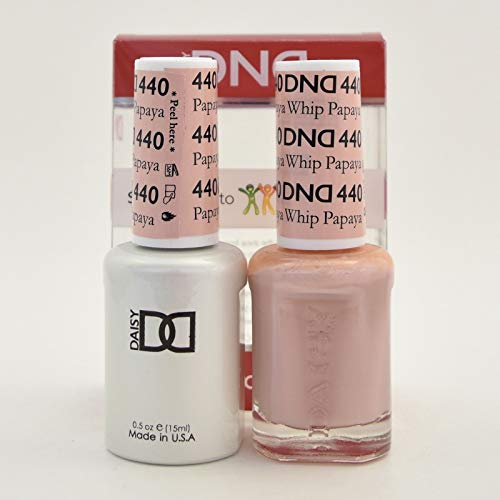 DNDDuo Gel (Gel & Matching Polish) Spring Set 440 - Papaya Whip (Gel Nail Polish Vs Regular Nail Polish)