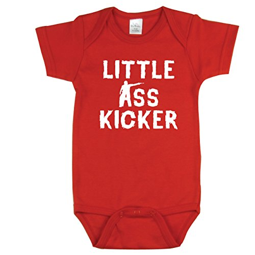 Nursery Decals and More Zombies, Walking Dead Inspired, Little Ass Kicker, Red 0-3 mo]()