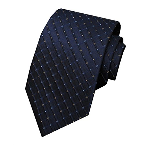 Fiber Tie 70 Polyester Tie Silk And Type Arrow Blue Brown MIAOWANG Grid Silk Mulberry Tie And Pattern Men's 30 BPxn1vT