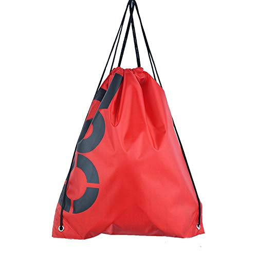 Waterproof Swimming Backpack Drawstring Beach Shoulder Bag Double Layer Sport Bag Outdoor Water Sports Travel Portable Bags,Letter-Red