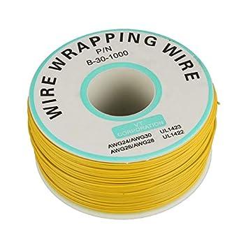 Justdodo 250m 30AWG Solo núcleo Vuelo Circuito de Alambre de Cobre Ok Línea Línea PCB Cable de Acoplamiento de Soldadura electrónica por Cable: Amazon.es: ...