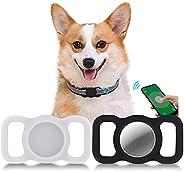 Kucheed Funda Protectora para Airtag, 2 Piezas Accesorios para Collar de Perro Gato con Seguimiento GPS,Soport