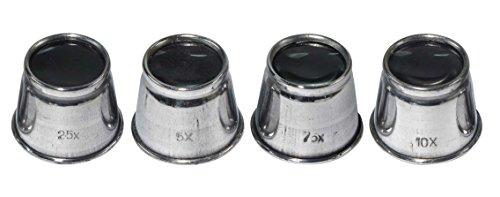 SE MI125-4 Aluminum Eye Loupe Set (4 PC.)
