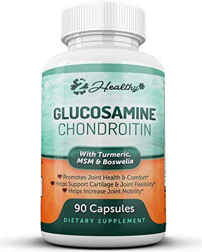 Glucosamine Chondroitin MSM Turmeric Boswellia - Joint Support Supplement with Hyaluronic Acid for Extra Strength Relief, Natural Health & Mobility Support for Pain, Aches & Soreness - 90 Cap