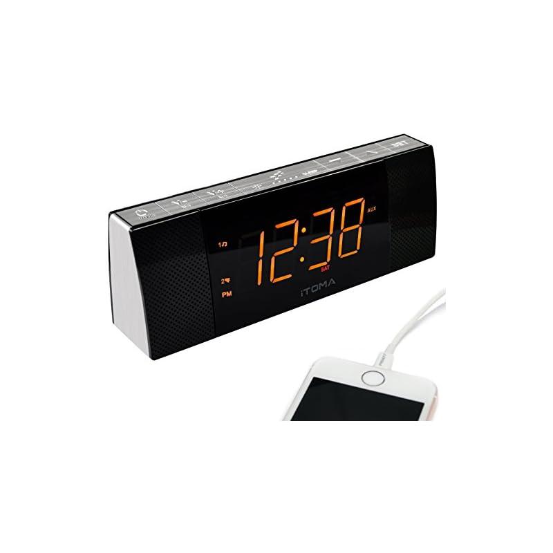 iTOMA Alarm Clock Radio with Bluetooth S