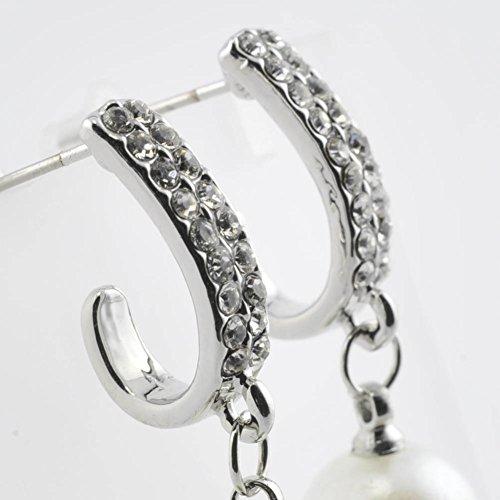 Boucles d'oreilles clou et puce - Laiton - Bijou fantaisie mode et tendance - Perle - Blanc - Dora - Cadeau Femme pas cher - Mes Bijoux Bracelets
