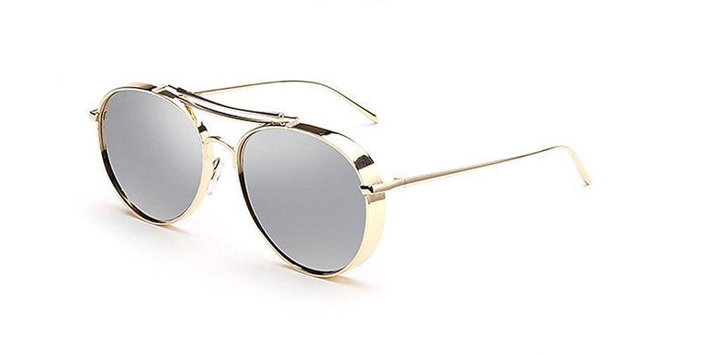 AOBISENG/®Fashion Aviator Metal Frames Mirror Sunglasses