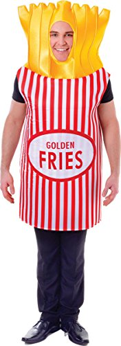 Unisex Adult Hen Stag Do Night Fancy Dress Party French Golden Fries Costume -