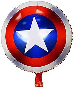بالون دائري مصنوع من رقائق القصدير بتصميم كابتن اميركا بقياس 18 انش، لحفلات اعياد الميلاد للاطفال