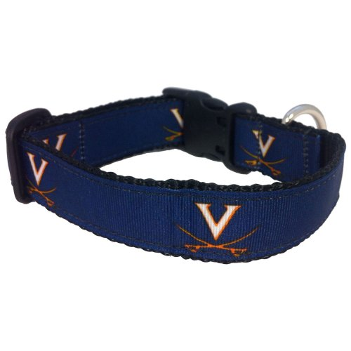 All Star Dogs NCAA Virginia Cavaliers Dog Collar (Team Color, Medium)