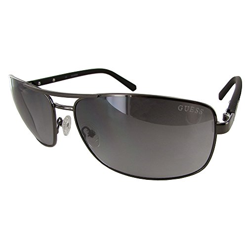GUESS Men's Metal Navigator Rectangular Sunglasses, 08C, 66 - Guess Sun Glasses