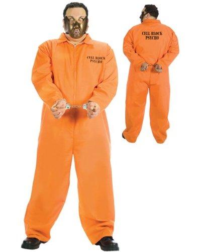 [Cell Block Psycho Plus Size Costume] (Mens Plus Size Cell Block Psycho Costume)