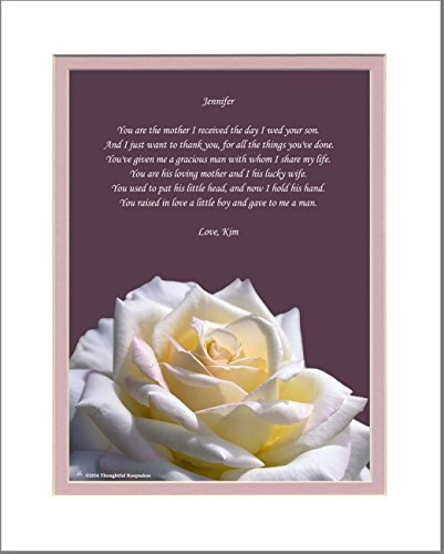 """Personalized Mother-in-Law Gift with """"Thank You for My Husba"""