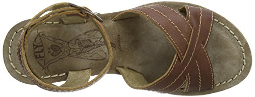 Fly London Gera - Sandalias de vestir de cuero para mujer marrón - Brown (Tan)