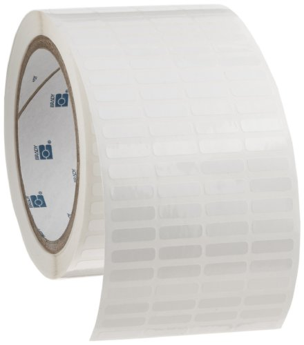 Brady THT-14-423-10 0.65'' Width x 0.2'' Height, B-423 Permanent Polyester, Gloss Finish White Thermal Transfer Printable Label (10000 per Roll) by Brady