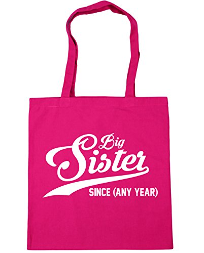 HippoWarehouse Any x38cm Fuchsia Bag Shopping Tote Sister Beach 42cm Big PERSONALISED 10 Since litres Gym Year qc4HUq