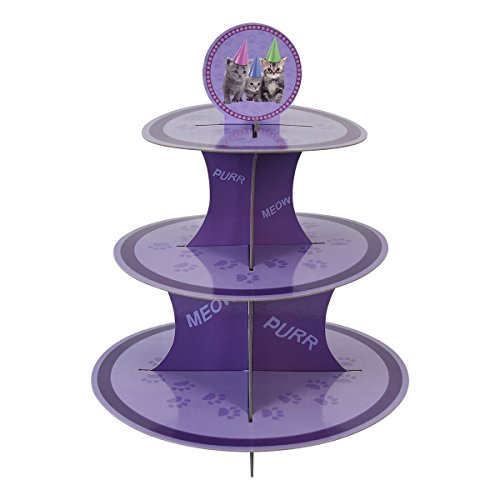 Kitten Cupcake Stand & Pick Kit, Cat Party Supplies, Kitten Decorations, Birthdays, Cake Decorations, Kids Birthdays, 3 Tier (Cat Birthday Cakes)