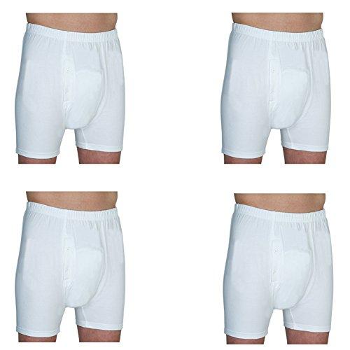 Fiber Mens Boxers - Prime Life Fibers Inc (Set/4) Men's Incontinence Boxer Briefs w/Absorbent Odor Killing Pad - XL