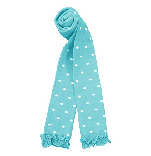 - Country Kids Little Girls' Polka Dot Stretchy Knit Footless Ruffle Tights, Pack of 1, Fits 6-8 Years, Aqua Blue