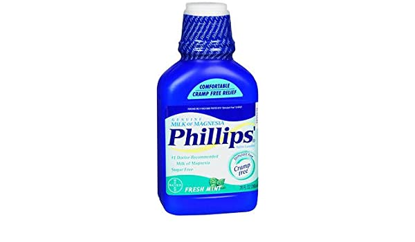 Amazon.com: Phillips Milk of Magnesia Fresh Mint - 26 oz, Pack of 6: Health & Personal Care