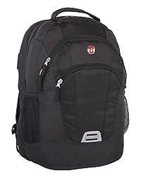 Swiss Gear Side Load Laptop Backpack - 17.3-Inch, Black